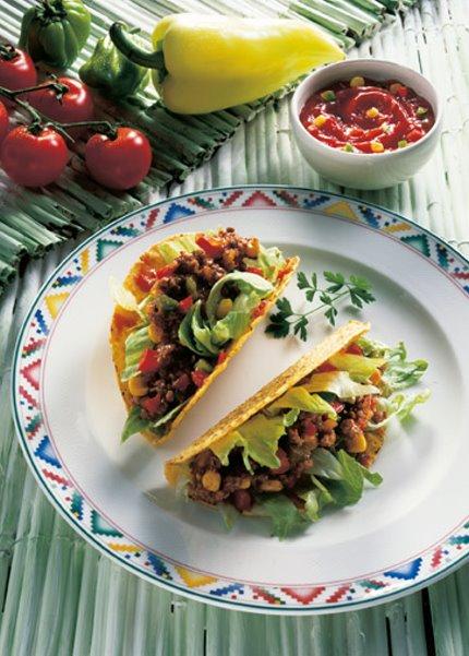 Snack-Rezept: Tacos mit Fleischfüllung - Foto: Wirths PR