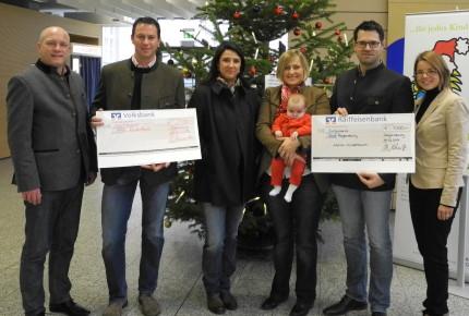 Eschenwecker und Hubertushöhe übergeben Scheck zu Gunsten der Aktion Kinderbaum