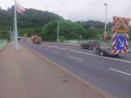 So wird der Arbeitsbereich abgesichert. - Foto: Freigegeben - Stadt Koblenz