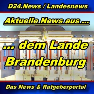 Landesnews - News aus dem Land Brandenburg -