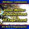 Landesnews - Wettertrend für Deutschland - Aktuell -